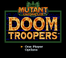 Doom Troopers (USA) Title Screen