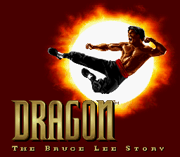 Dragon - The Bruce Lee Story (USA) Title Screen