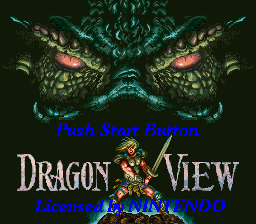 Dragon View (USA) Title Screen