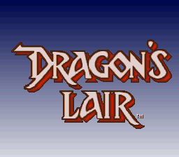 Dragon's Lair (USA) Title Screen