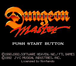 Dungeon Master (USA) Title Screen