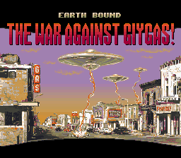 EarthBound (USA) Title Screen