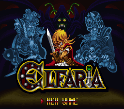 Elfaria - The Isle of the Blest (Japan) Title Screen