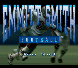 Emmitt Smith Football (USA) Title Screen