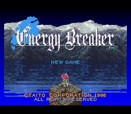Energy Breaker (Japan) Title Screen