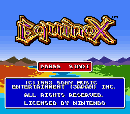 Equinox (Europe) Title Screen