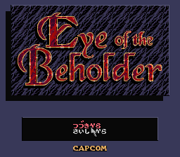 Eye of the Beholder (Japan) Title Screen