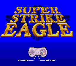 F-15 Super Strike Eagle (Japan) Title Screen