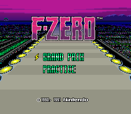 F-Zero (Europe) Title Screen