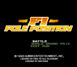 F1 Pole Position (USA) Title Screen