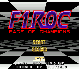 F1 ROC - Race of Champions (USA) Title Screen
