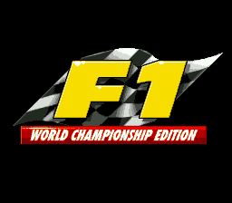 F1 World Championship Edition (Europe) Title Screen