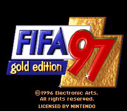 FIFA '97 - Gold Edition (USA) (En,Fr,De,Es,It,Sv) Title Screen
