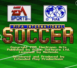 FIFA International Soccer (Europe) Title Screen