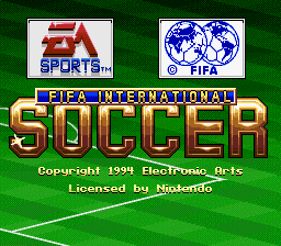 FIFA International Soccer (USA) Title Screen