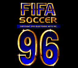 FIFA Soccer '96 (Europe) (En,Fr,De,Es,It,Sv) Title Screen