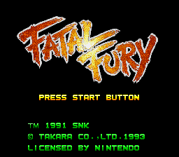 Fatal Fury (USA) Title Screen