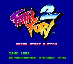 Fatal Fury 2 (USA) Title Screen
