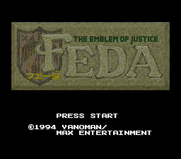 Feda - The Emblem of Justice (Japan) (Beta) Title Screen