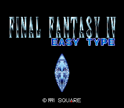 Final Fantasy IV - Easy Type (Japan) Title Screen