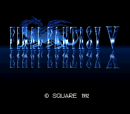 Final Fantasy V (Japan) Title Screen