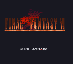 Final Fantasy VI (Japan) Title Screen