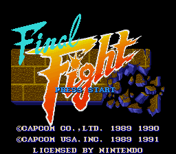 Final Fight (USA) Title Screen