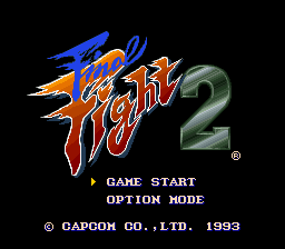 Final Fight 2 (Japan) Title Screen