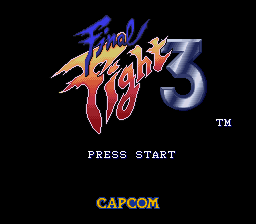 Final Fight 3 (Europe) Title Screen