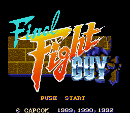 Final Fight Guy (Japan) Title Screen