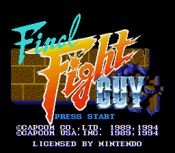 Final Fight Guy (USA) Title Screen
