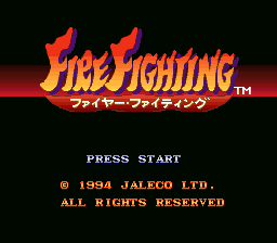 Fire Fighting (Japan) Title Screen