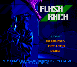 Flashback (Europe) (En,Fr) Title Screen