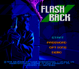 Flashback (Europe) (En,Fr,De) Title Screen