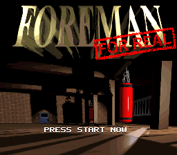 Foreman For Real (Japan) Title Screen
