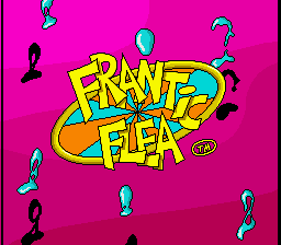 Frantic Flea (Europe) Title Screen