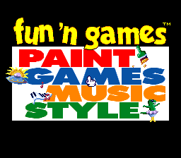 Fun 'n Games (Europe) Title Screen