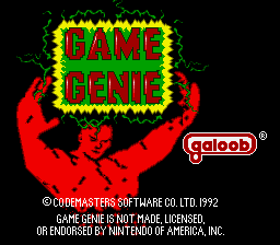 Game Genie BIOS (USA) (v2.0) (Unl) Title Screen