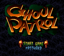 Ghoul Patrol (USA) Title Screen