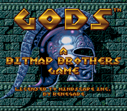 Gods (USA) Title Screen