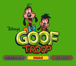 Goof Troop (Europe) Title Screen