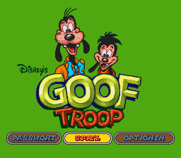 Goof Troop (Germany) Title Screen