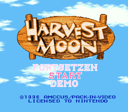 Harvest Moon (Germany) Title Screen