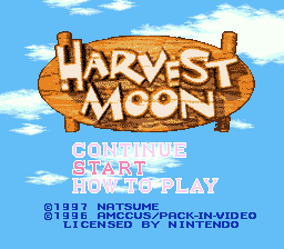 Harvest Moon (USA) Title Screen