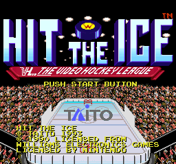 Hit the Ice (USA) Title Screen