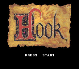 Hook (Europe) Title Screen