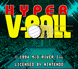 Hyper V-Ball (USA) Title Screen