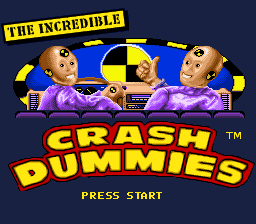 Incredible Crash Dummies, The (Japan) Title Screen