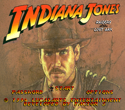 Indiana Jones' Greatest Adventures (Japan) Title Screen