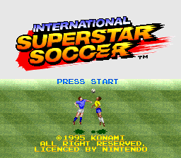 International Superstar Soccer (Europe) Title Screen